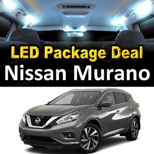 11x White Led Lights Interior Package Deal For 2003 2005 2006 2007 Nissan Murano