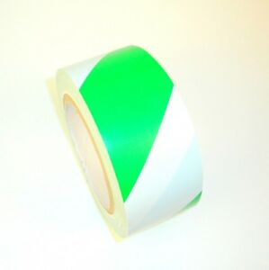 9 Rolls Striped Vinyl Tape Green white 2 48mm X 108 Ft