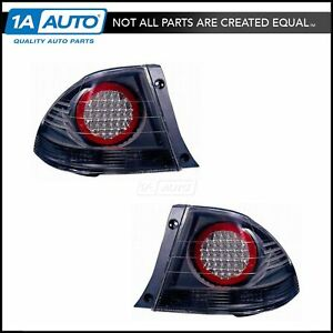 Black Bezel Performance Led Outer Taillight Taillamp Pair Set For Lexus Is300