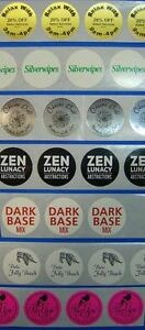 Printed Round Labels 1 Diameter 250 Custom Circle Business Stickers 1 Ink Color