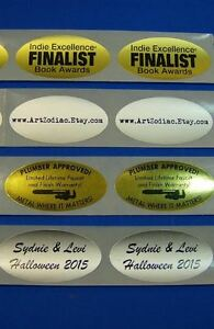 Printed Oval Labels 250 Custom Business Stickers 1 color Ink 1 1 4 X 2 1 2