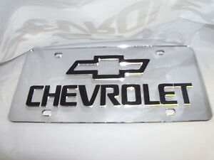 Chevrolet Laser License Plate Silver black New