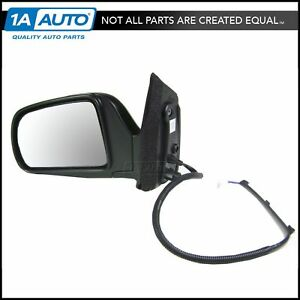 Power Side View Mirror Black Driver Left Lh New For 98 03 Toyota Sienna