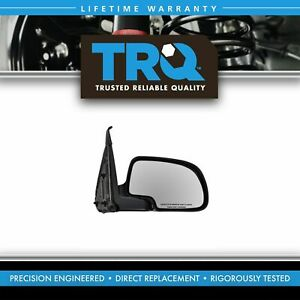 Chrome Manual Mirror Passenger Right Rh For Silverado Sierra Pickup Truck Tahoe