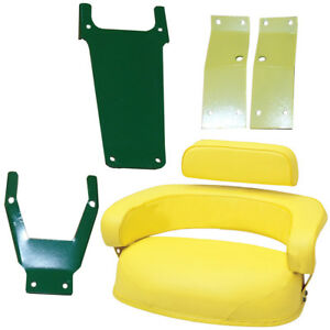 3 pc Seat Cushion Set W Sbk400 Brackets For John Deere 2520 3010 3020 4000 4020