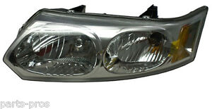 New Replacement Headlight Assembly Lh For 2003 07 Saturn Ion 4 door Sedan