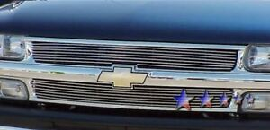 Billet Grills Insert Fits 00 01 Chevy Tahoe Front Grille Upper Aluminum Grill