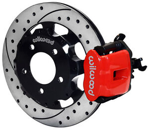 Wilwood Disc Brake Kit Rear 2006 2012 Honda Civic Si 2 0l 12 Drilled Rotors Red