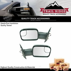 Trail Ridge Towing Mirror Power Heated Signal Pair Set For Dodge Ram Pickup New