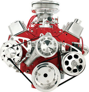 Billet Specialties Sbc Serpentine Pulley Bracket Kit mid mount Alternator 2122