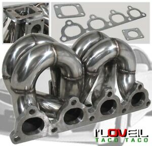 Honda Civic Crx D Series Ram Horn Equal Length D15 D16 T3 Turbo Manifold Eg Ek