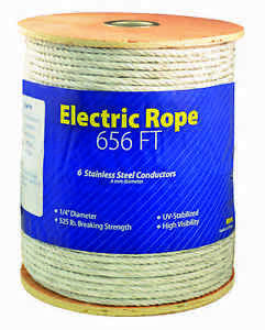 Economy Electric 1 4 Inch Thick Braid Rope Horse Fence 656ft Roll