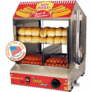 Hot Dog Machine Hotdog Steamer Cooker Tabletop Merchandiser Concession