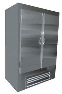 Cooltech Stainless Steel 2 door Reach in Upright Freezer 48 Cmph 48ri f