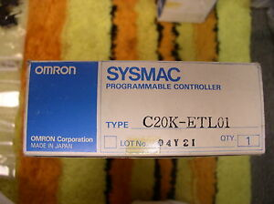Omron Sysmac Programmable Controller C20k etl01 Training Program
