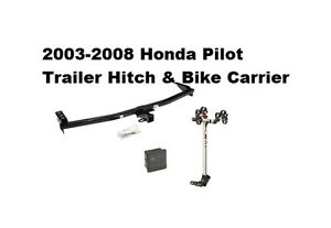 Trailer Hitch Fits 2003 2008 Honda Pilot Rola 2 Bike Carrier Rack Combo