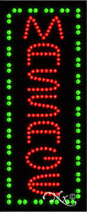 New massage Vertical 27x11 Solid animated Led Sign W custom Options 21006