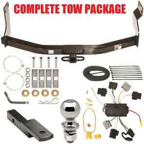 2005 2007 Ford Escape Trailer Hitch Wiring Harness Kit Ballmount 2 Ball