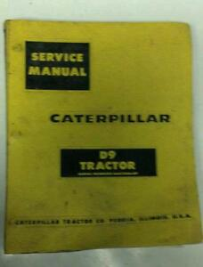 Caterpillar D9 Tractor Service Manual