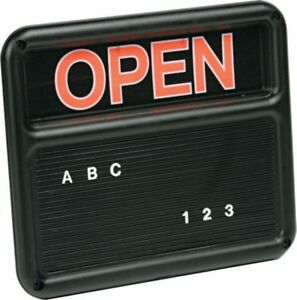 Gbc Open Closed Message Retail Sign Model 8130