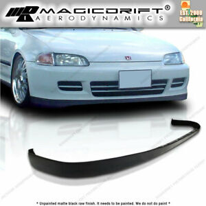 92 95 Honda Civic Eg6 Eg Oe Sir Style Front Bumper Pu Lip Body Kit 2d Or 3d