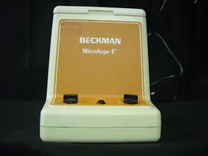 Beckman Microfuge E Centrifuge W 12 Place Rotor Cat 348720