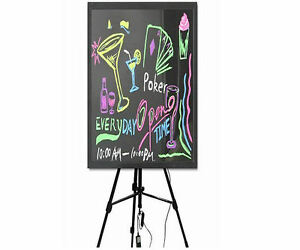Flashing Illuminated Neon Led Message Writing Board Menu Sign 32x24 With Tripod