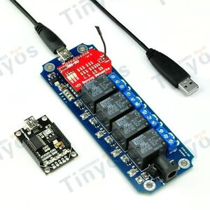 4 Channel Usb wireless 5v Relay Module Wifi Remote Control Kit