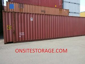 Used 45 High Cube Steel Storage Container Shipping Cargo Conex Seabox Houston