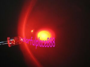 50pcs 5mm Red Round Self Flash Flashing Led Blink Water Clear Bright Leds New