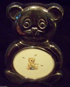Sterling Teddy Bear Motif Baby Picture Photo Frame View Our Finethings4sale