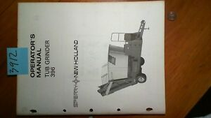 New Holland 396 Tub Grinder Owner s Operator s Manual 42039610 4 77
