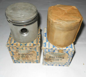 Nos Pair Of Stanpart Pistons For Spitfire Mki Ii Grade A Std Size