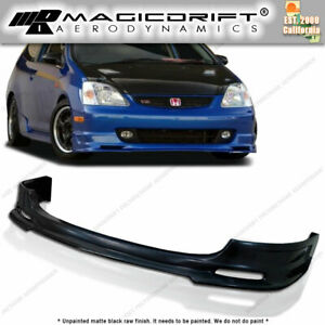 02 05 Honda Civic Si Hatch Ep Ep3 Front Bumper Add on Lip Spoiler Polyurethane