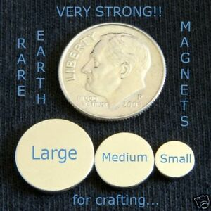 50 Large Rare Earth Neo Magnets 1 2 X 1 16 Inch Disc Round Bottle Caps Etc