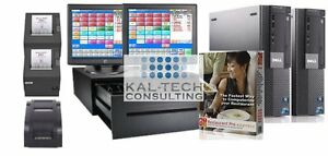 Pcamerica Pos System Rpe Restaurant Pizza Bar Pro Express 2 Stations I3 4gb