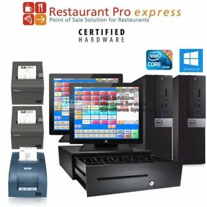 2 Station Pcamerica Rpe Restaurant Pro Express Pizza Bar Pos System New I3 4gb