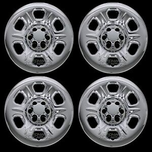 4 Fits Nissan Frontier Xterra 05 2019 Chrome 16 Wheel Skins Hub Caps Rim Covers