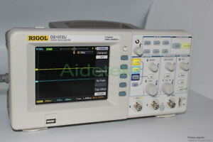 Rigol Oscilloscope 70mhz 2 Chs Ds1072u 500mhz Sr Fft Pass fail Usb 22 Waveform
