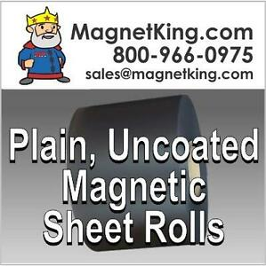 Magnetic Sheet Material 020 Plain Uncoated Magnet 24 X 25 Roll