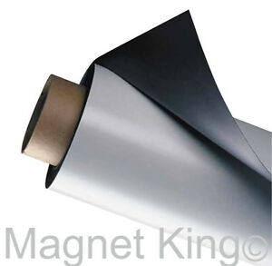 Thick Heavy duty All weather Magnetic Sheeting 24 X 25 White Magnet Roll