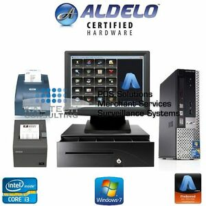 Aldelo Pro Restaurant Bar Pizza Pos one Station Msr New Intel Core I3 4gb Ram