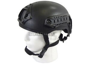 Lancer Tactical Airsoft FAST NVG Base Jump Black MICH 2001 Replica Helmet CA333B