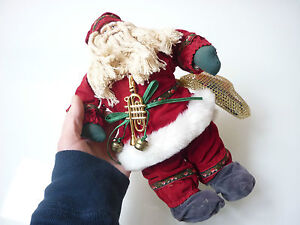 Vintage I Think Christmas 10 Santa Toy Doll Figurine Decoration 1123