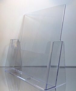 12 pack Of Clear Acrylic 8 5 X 11 Countertop Brochure magazine Holder Displays
