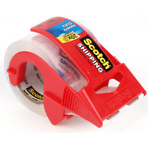 Scotch Shipping Packing Tape Dispenser 3m 2 X 1000 27 7yards Heavy Duty new