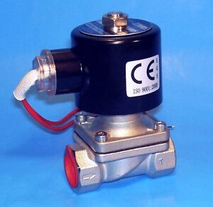 Stainless 1 2 Electric Solenoid Valve 110 Volt Ac Normally Closed Operation