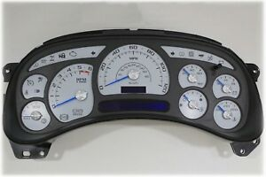 4a 03 04 2003 2004 Custom White Gauge Gmc Chevy Silverado Replacement Cluster