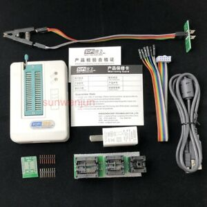 Usb Bios Universal Sp8 f Programmer Full Pack Flash eeprom spi With Test Clip
