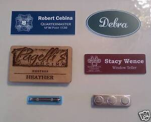 Custom Engraved Name Badges Name Tags Free Shipping